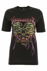 Dsquared2 Crystal Metal Rock T-shirt