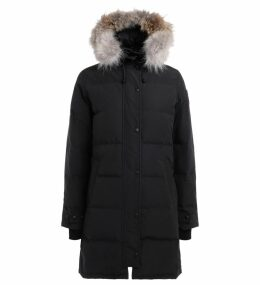 Parka Canada Goose Blue Shelburne With Adjustable And Removable Hood