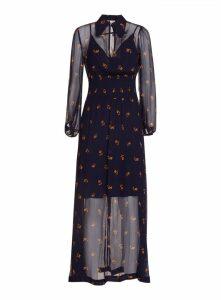 Baum Und Pferdgarten Floral Print Sheer Maxi Dress