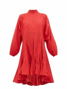 Rhode - Adeline Flounced Hem Cotton Voile Dress - Womens - Red