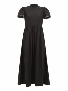 Rhode - Heidi Crystal Embellished Cotton Voile Dress - Womens - Black