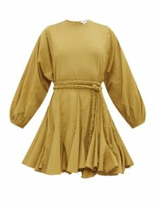 Rhode - Ella Belted Cotton Mini Dress - Womens - Khaki