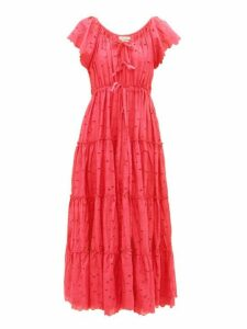 Innika Choo - Alotta Güd Tiered Cotton Maxi Dress - Womens - Red