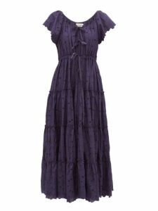 Innika Choo - Alotta Güd Tiered Cotton Maxi Dress - Womens - Navy