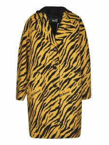 Love Moschino Animal Print Coat