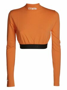 HERON PRESTON Turtleneck Crop Top
