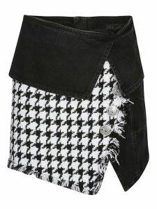 Balmain Denim Wrap Mini-skirt