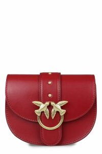 Pinko Baby Round Love Leather Crossbody Bag