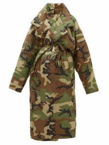 Norma Kamali - Sleeping Bag Camouflage Padded Coat - Womens - Camouflage