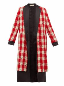 Marni - Reversible Checked Gilet Coat - Womens - Red White