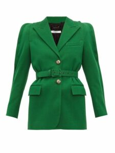 Givenchy - Belted Technical Wool Blazer - Womens - Green