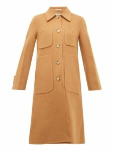 Acne Studios - Orein Single Breasted Double Faced Wool Coat - Womens - Brown