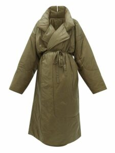 Norma Kamali - Sleeping Bag Reversible Coat - Womens - Khaki