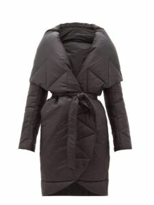 Norma Kamali - Padded Shawl Lapel Technical Shell Coat - Womens - Black