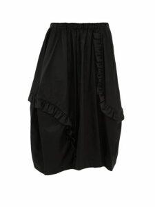 Comme Des Garçons Comme Des Garçons - Ruffled Technical Sateen Skirt - Womens - Black
