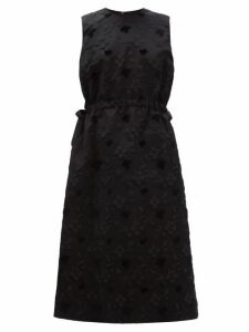 Noir Kei Ninomiya - Floral Fil Coupé Tulle Underskirt Dress - Womens - Black