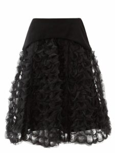 Noir Kei Ninomiya - Ring Weave Organza Midi Skirt - Womens - Black