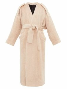 Petar Petrov - Moscow Belted Alpaca-blend Coat - Womens - Light Pink