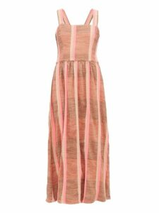 Ace & Jig - Willa Striped Cotton Midi Dress - Womens - Beige Multi