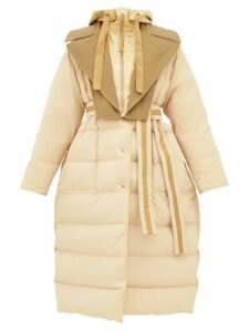 2 Moncler 1952 - Glomma Wrinkled Shell Down Coat - Womens - Beige