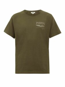 Phipps - Flight Logo Cotton T Shirt - Womens - Khaki