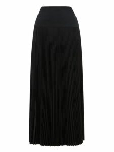 Joseph - Bryanna Drop Waist Pleated Midi Skirt - Womens - Black