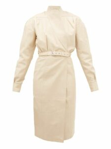 Dodo Bar Or - Tony Belted Leather Wrap Dress - Womens - Ivory