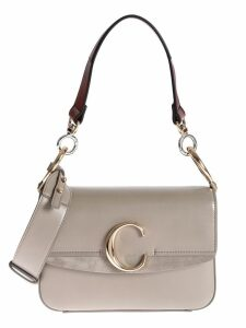 Chloé Plaque Logo Shoulder Bag