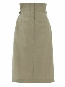 Acne Studios - Ippy Paper Bag Wool Twill Skirt - Womens - Beige