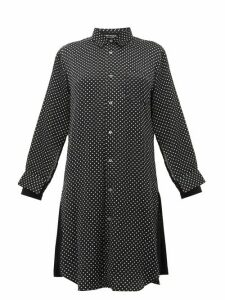 Junya Watanabe - Polka Dot Satin Shirtdress - Womens - Black Multi
