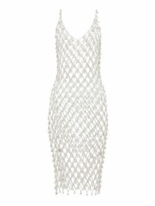 Paco Rabanne - Chainmail Crystal-embellished Dress - Womens - Silver