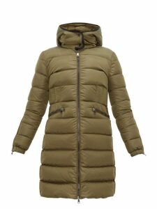 Moncler - Betulong A-line Quilted-down Coat - Womens - Dark Green