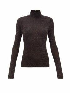 Acne Studios - Elin Metallic Roll Neck Sweater - Womens - Black