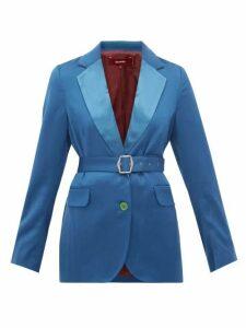 Sies Marjan - Terry Belted Wool Twill Blazer - Womens - Blue