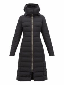Herno - Quilted Gore Tex Down Filled Coat - Womens - Black
