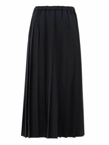 Junya Watanabe - Pleated Wool Blend Midi Skirt - Womens - Navy