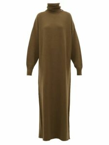 Extreme Cashmere - No.119 Protection Cashmere Blend Sweater Dress - Womens - Dark Khaki