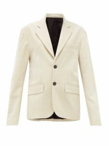 La Fetiche - Annie Single Breasted Cotton Blend Blazer - Womens - Cream