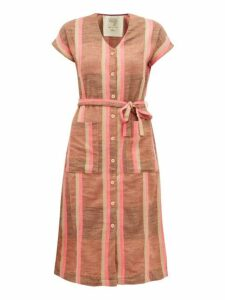 Ace & Jig - Gallo Belted Cotton Dress - Womens - Beige Multi