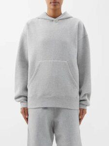 Raey - Oversized Collarless Wool Blend Blazer - Womens - Grey