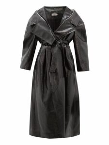 Preen By Thornton Bregazzi - Ensley Oversized Pvc Trench Coat - Womens - Black