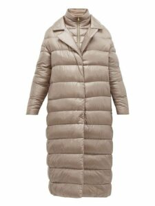 Herno - Longline Ultralight Double Layer Quilted Coat - Womens - Beige