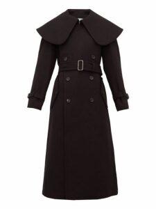 Comme Des Garçons Comme Des Garçons - Exaggerated Collar Wool Blend Coat - Womens - Black