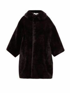 Comme Des Garçons Comme Des Garçons - Oversized Faux Fur Coat - Womens - Black
