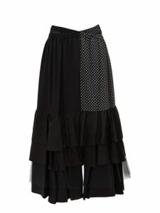 Junya Watanabe - Ester Tiered Crepe Skirt - Womens - Black Multi