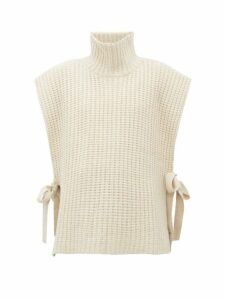 See By Chloé - Side Tie Ribbed High Neck Sweater - Womens - Ivory