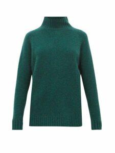 The Elder Statesman - Highland High Neck Cashmere Sweater - Womens - Green