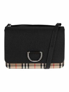 Burberry London Medium Vintage Check And Leather D-ring Bag