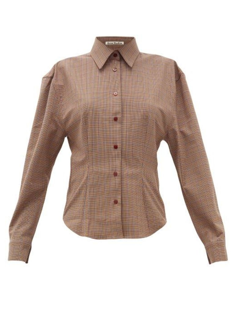 Acne Studios - Sovilla Checked Twill Slim Fit Shirt - Womens - Brown Multi
