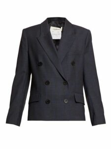 Isabel Marant Étoile - Visby Double Breasted Twill Blazer - Womens - Navy